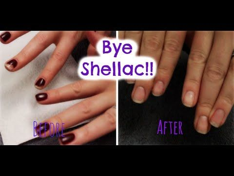 How to Remove Shellac Polish At Home! - YouTube