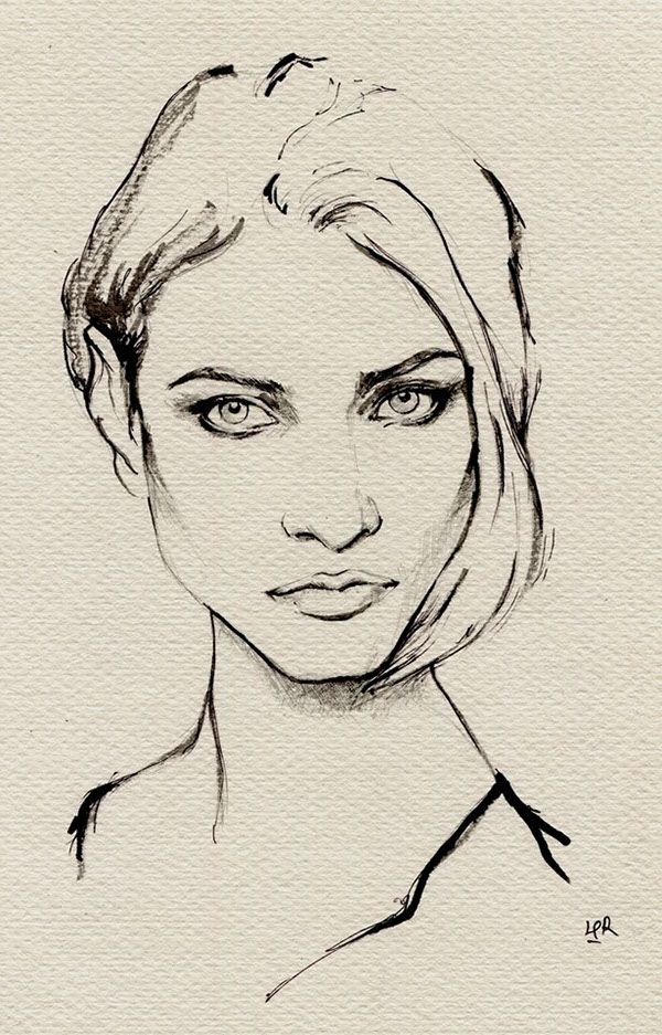ink painting--Anna Selezneva on Behance