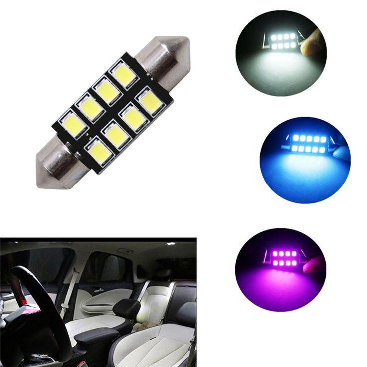 1pc 31mm 36mm 39mm 42mm Car LED FESTOON Bulb C5W CANBUS NO ERROR Car Dome Light Auto Interior Lamp DC12V white ice blue pink  Price: 1.62 USD