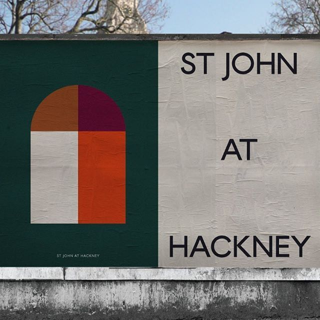 New type in use for St John at Hackney. A modern twist on the English classics — more to come
