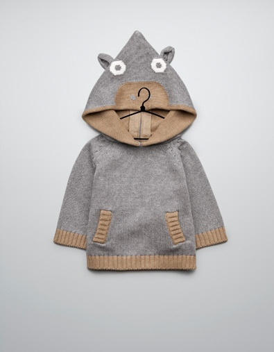 knitted animal jacket with hood - Collection - Mini (0-9 months) - Kids - ZARA Norway