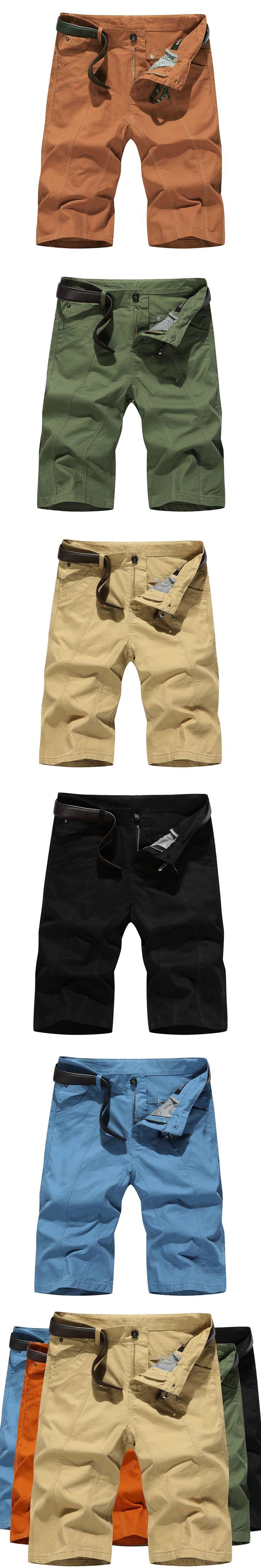 Bermuda Shorts Men Brand Men Shorts Casual Slim Fit Youths Men Beach Shorts Homme Cargo Shorts Khaki Black