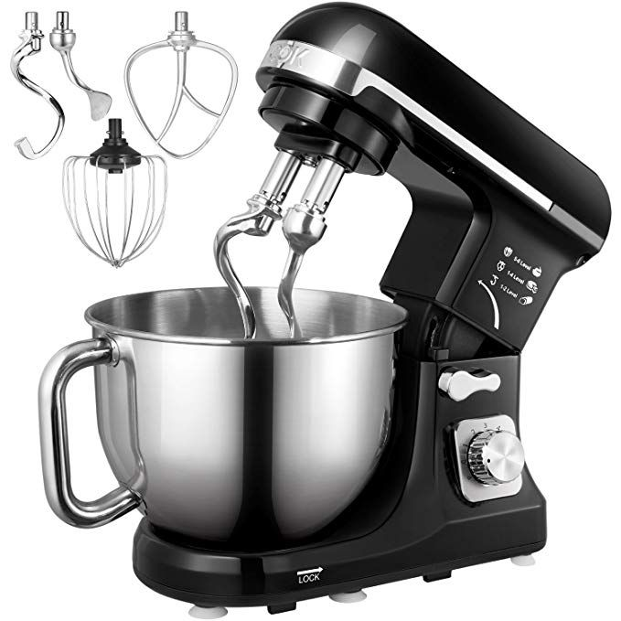 Whisk 6 Speed Food Stand Mixer with 4.5 L Bowl Dough Hook Beater for Kitchen