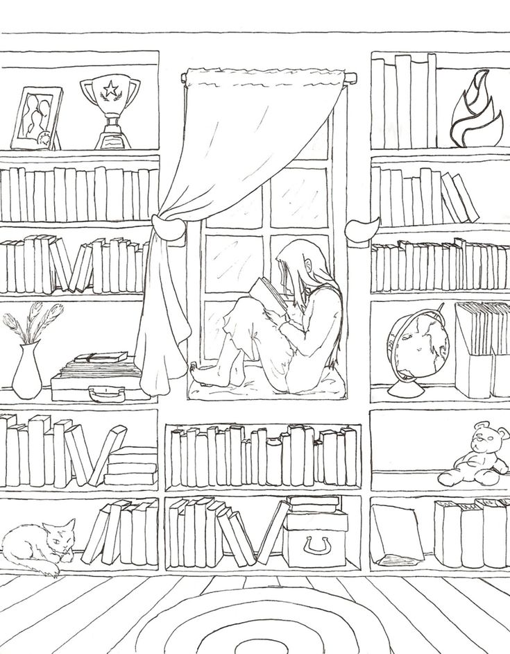 Alleen op je kamer #kleurplaat | Solitude Lineart by ~KayQy on deviantART | Alone in my room #coloringpage
