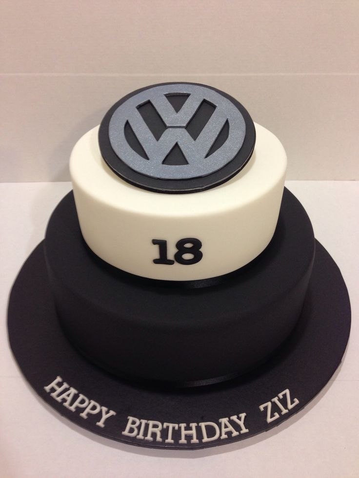 VW logo 18th birthday cake made by @sweetsbysuzie Melbourne