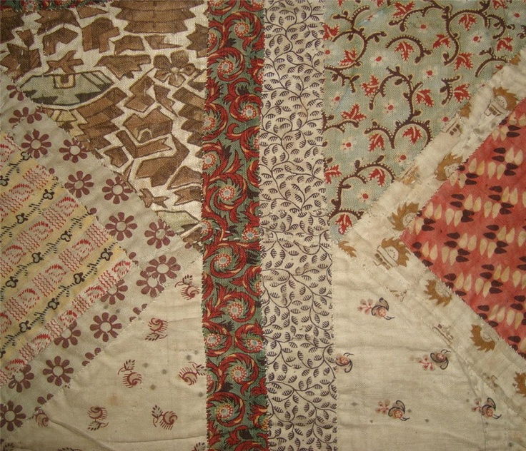 Late 18th century patchwork quilt fragment