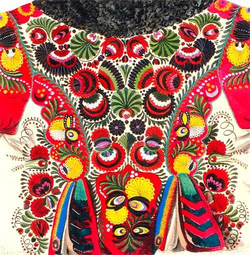 Hungarian stitch work.