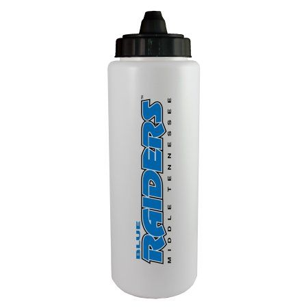 Middle Tennessee State University Blue Raiders Sideline Sport Bottle, Black