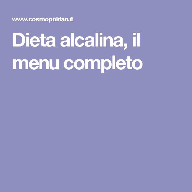 Dieta alcalina, il menu completo