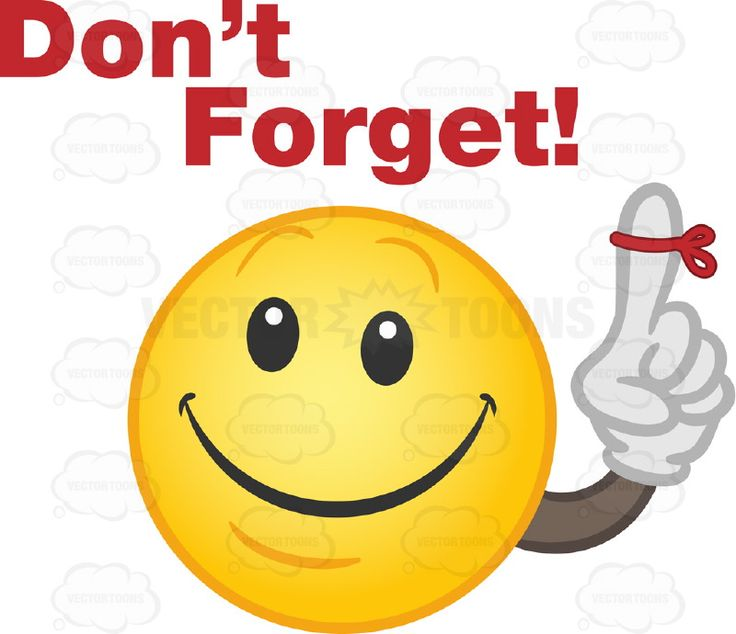 don't forget humorous clipart