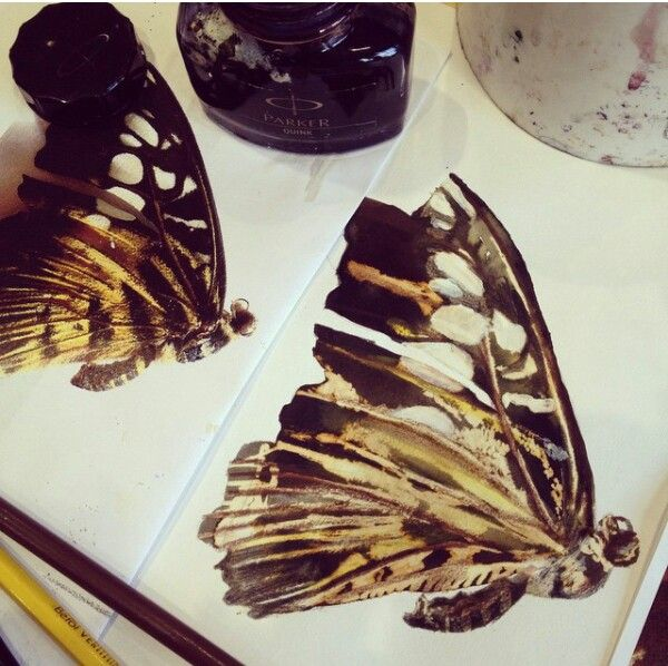 Ink and bleach butterflyik vind dit super mooi