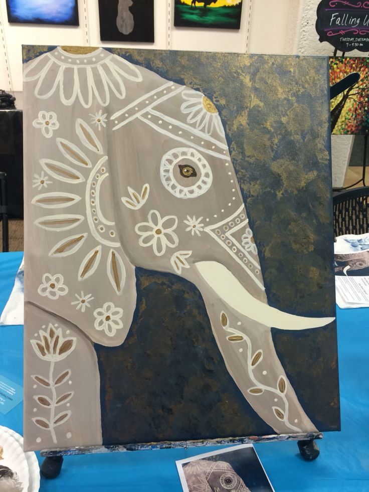 Elegant Elephant from Creatively Uncorked: Acrylic on Canvas