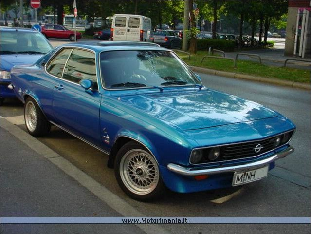 The Opel Manta, one of my favourite cars from the 1970s, American styling with European grace.
