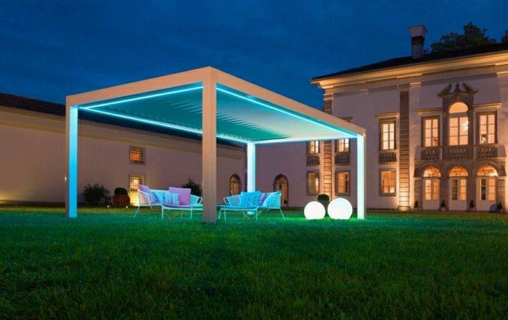 Las 25 mejores ideas sobre iluminaci n p rgola en for Toldos para patios pequenos