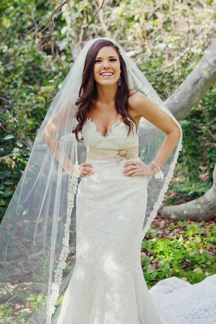 wedding hair with veil