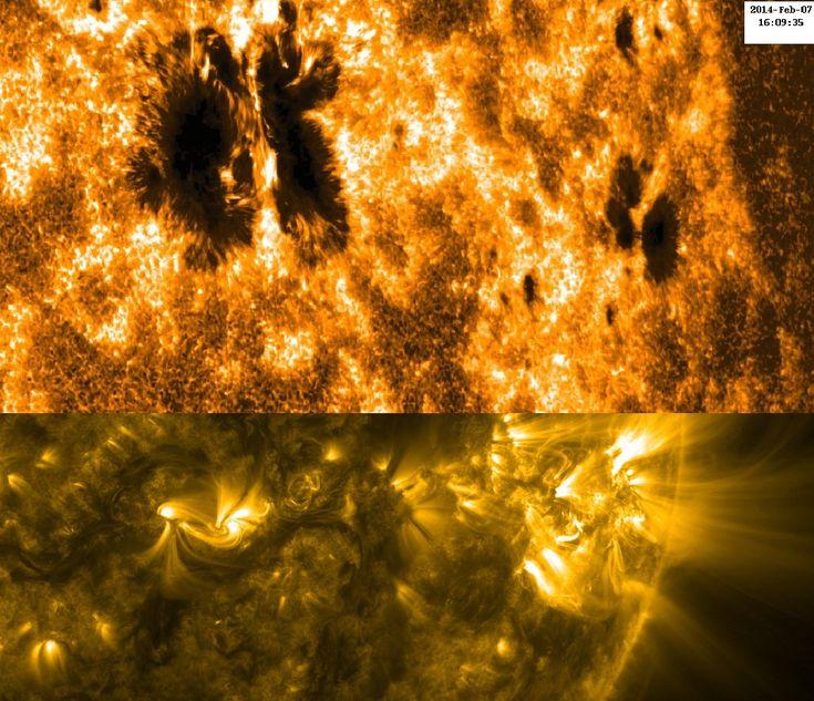 All sizes | Hinode Views Sunspot Activity (NASA, Hinode, 02/07/14) | Flickr - Photo Sharing!