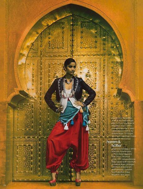 Alyssah Ali photographed by Carl Bengtsson for Elle Sweden, March 2009
