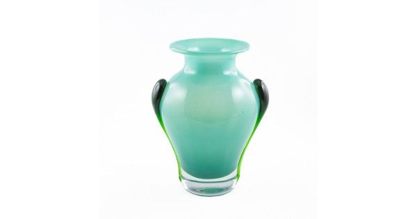 Superbă vază Art Nouveau | Aurene Jade Glass | Frederick Carder cca.1890