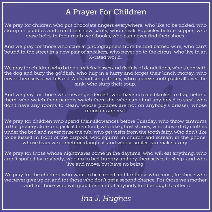 Kwgn Denver What Are You Praying For Today: A-Prayer-For-Children.... Wow, Never Thought Of It This