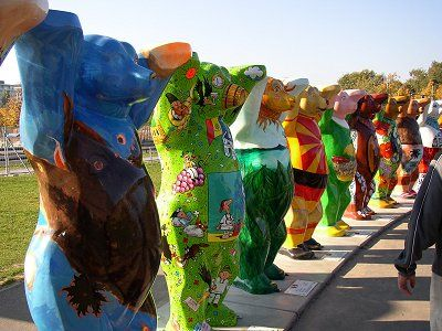 """The """"Berlin-Bear"""" is the town`s landmark and you can admire them all over the town especially in the """"Regierungsviertel"""""""