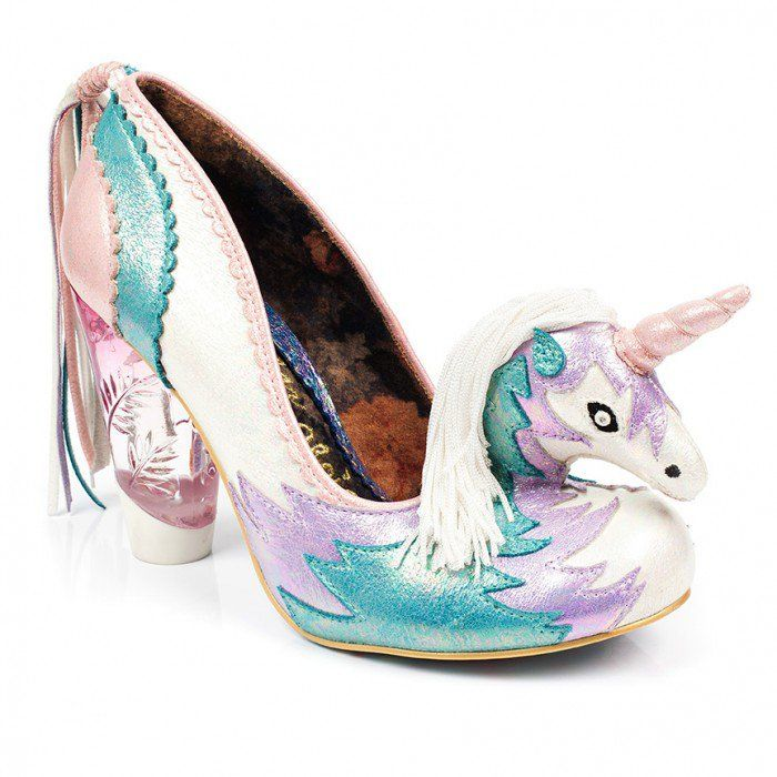 Step in to a dreamy daze with Dreamkiss. These fanciful high heels  featuring metallic PU with unicorn design and tassel tail will bring a hint  of fantasy to ...