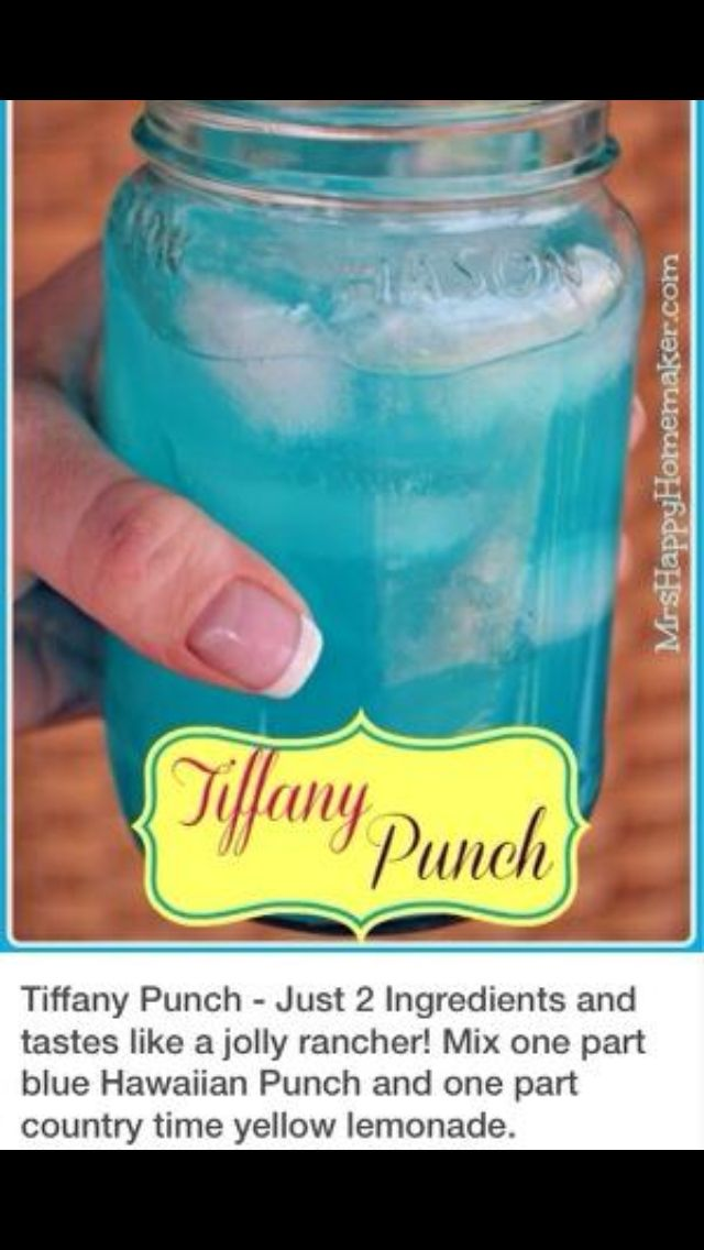 Make your own Tiffany punch