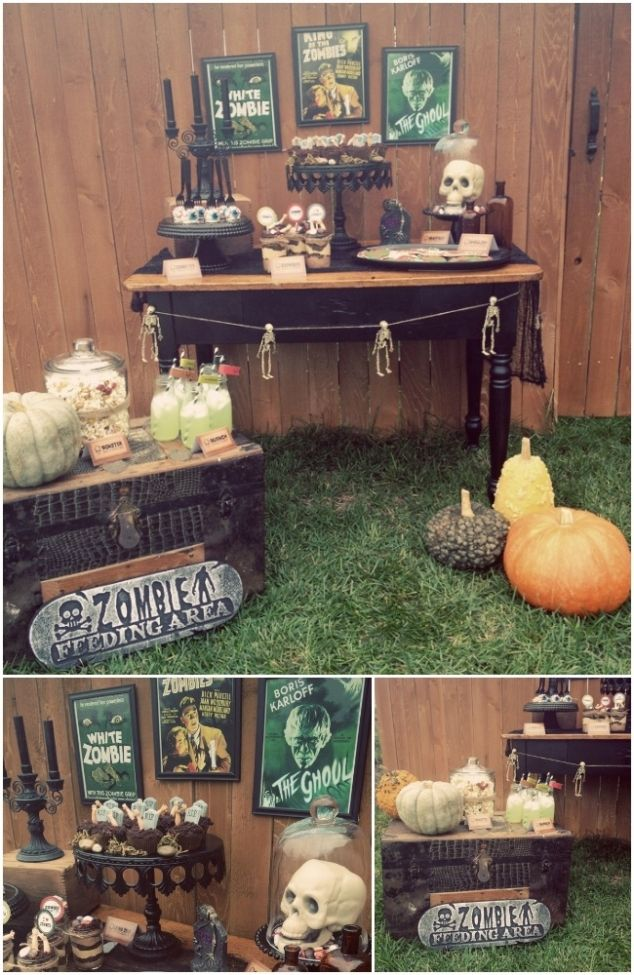 vintage zombie themed halloween party - Zombie Halloween Decorations
