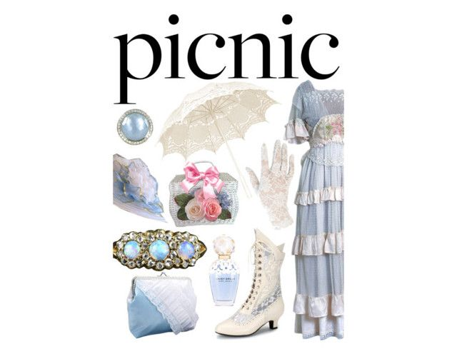 Victorian picnic by slytheriner on Polyvore featuring Trilogy, Ippolita, Black, Marc Jacobs and picnic