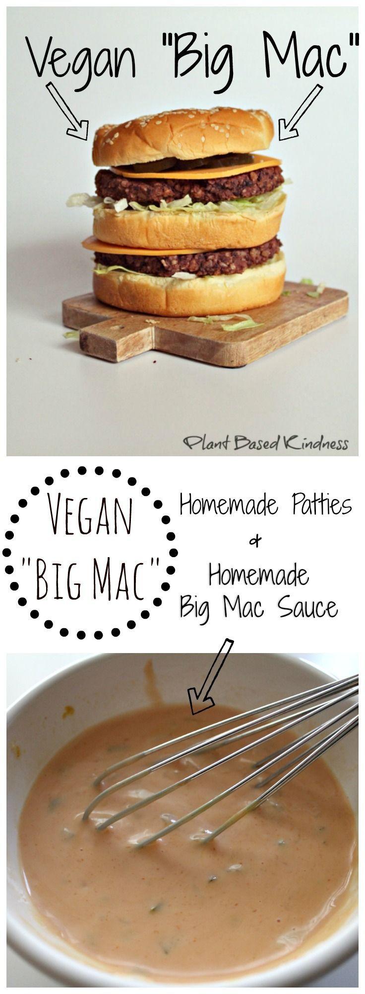 "Vegan ""Big Mac"" Recipe by Plant Based Kindness"