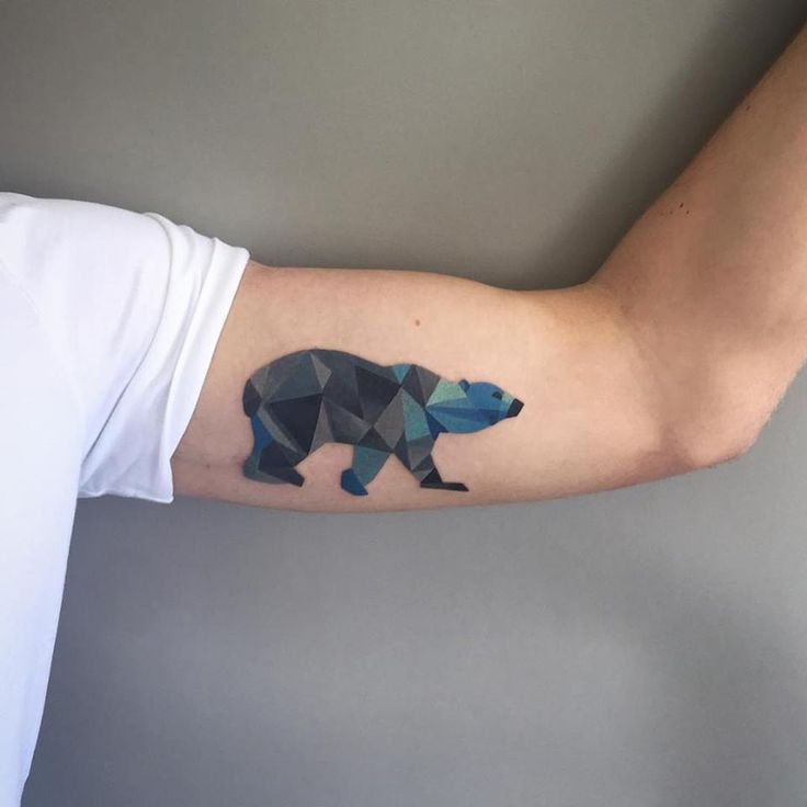 geometric polar bear tattoo - Sasha Unisex