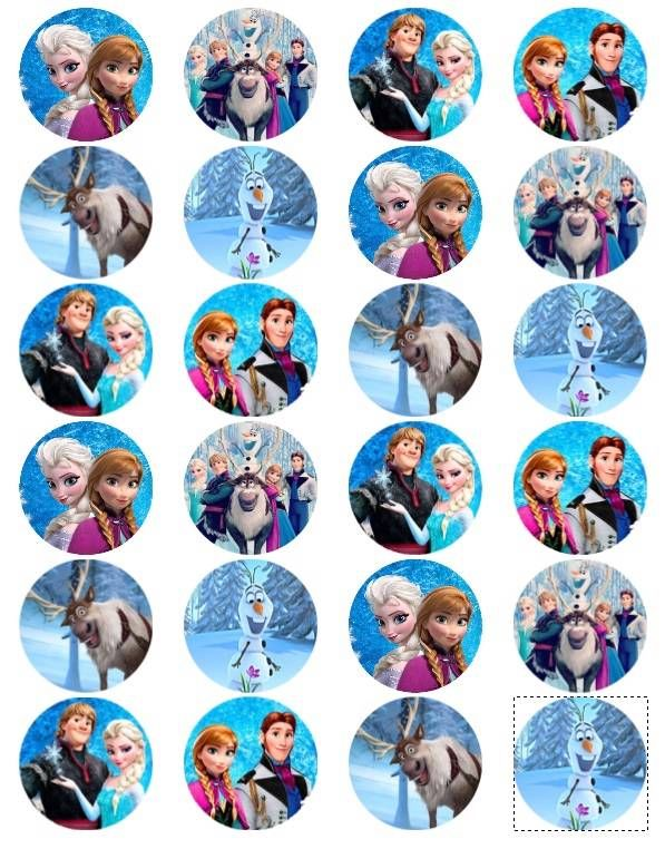 Disney Frozen Edible Photo Cup Cake Toppers Set Of 24 1 5 Free SHIP