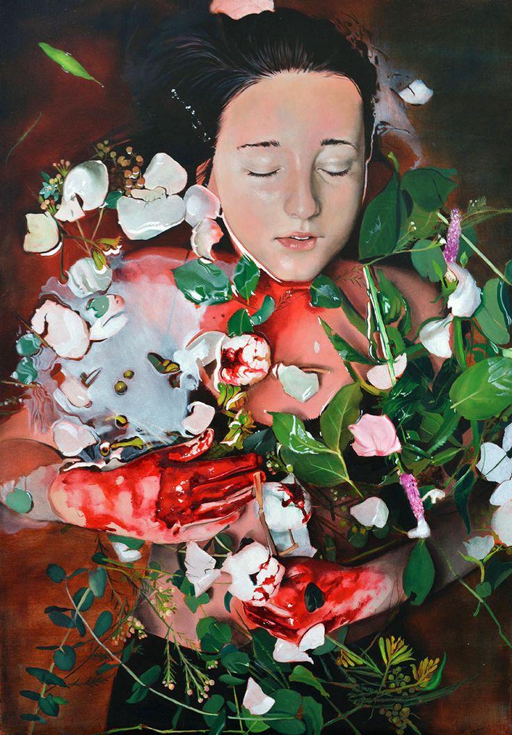 Sacrifice, oil on canvas, 100x70cm Eva Fajcikova fajcikova.com