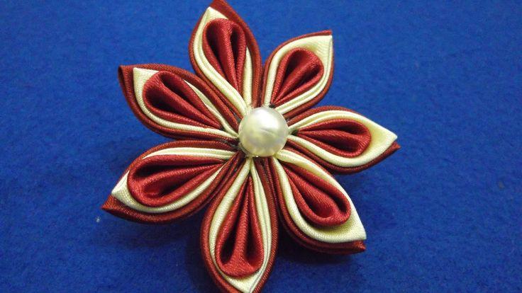 I ❤ ribbonwork . . . D.I.Y. Kanzashi Flower Tutorial~ The Simple & Easy Way ~By MyInDulzens