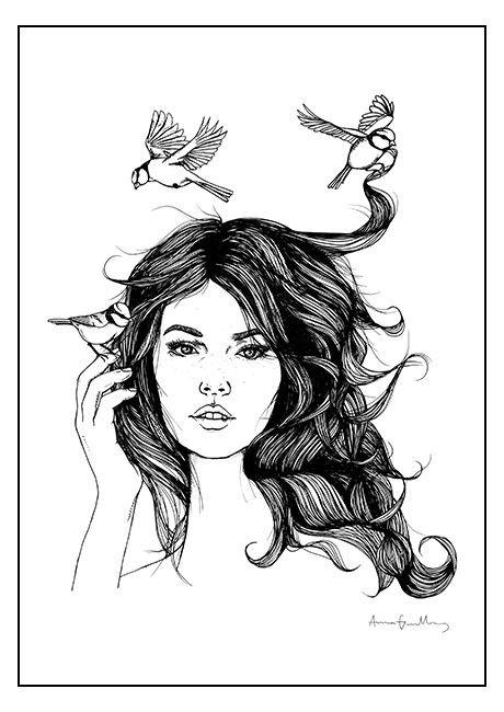 Birds - #poster by Anna Grundberg #birds