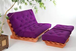 Sofá Cama Futon modelo Indiano casal - Tecido 100% algodão :: Sofá Cama Futon