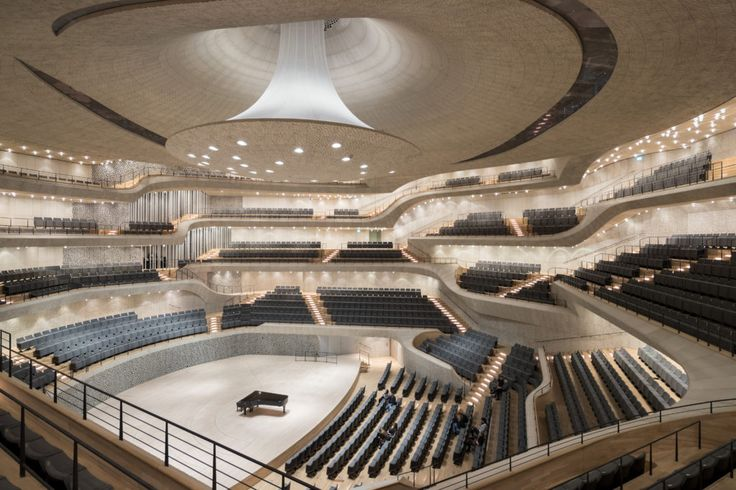 What Happens When Algorithms Design a Concert Hall? The Stunning Elbphilharmonie | Herzog and De Meuron designed the main concert hall of Hamburg's recently opened Elbphilharmonie with the help of algorithms. | Credit: Iwan Baan | From Wired.com