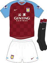 Aston Villa Football Kits Home Kit 2011-2012