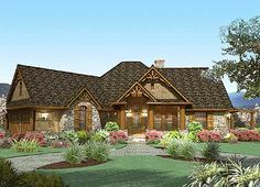 Take in the Views - 16801WG | Cottage, Craftsman, Mountain, Ranch, Vacation, 1st Floor Master Suite, Bonus Room, Butler Walk-in Pantry, CAD Available, Den-Office-Library-Study, MBR Sitting Area, Media-Game-Home Theater, PDF, Split Bedrooms, Corner Lot | Architectural Designs