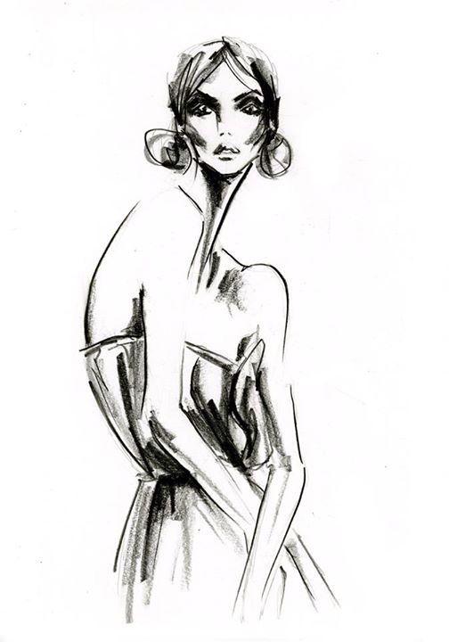 Fashion illustration in graphite by Lara Wolf #illustration #fashion #graphite