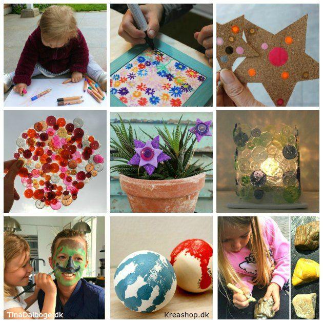 Kreative DIY ideer til hvad børn kan lave af personlige gaver og pynteting hjemme, i klubben og i institutionen