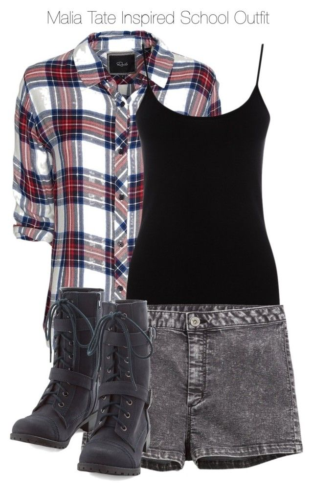 """Teen Wolf - Malia Tate Inspired School Outfit with a plaid shirt"" by staystronng ❤ liked on Polyvore featuring Rails, Oasis, H&M, school, plaid, tw and maliatate"