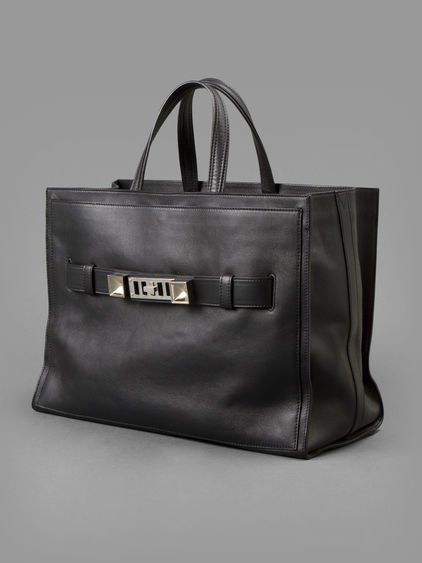 7_h00096_20c0PROENZA SCHOULER WOMEN'S BLACK PS11 LEATHER TOTE BAG   - PROENZA SCHOULER PS 11 LEATHER TOTE BAG  - PS 11 TOTE BAG  - BLACK  - LEATHER TOTE  - GOLD/PLATINUM SIGNATURE  - INVERTED STUD DETAIL  - ZIP CLOSURE  - TWO TOP HANDLES  - SNAP CLOSURE  - 100% LEATHER  - HEIGHT: 29 CM  - WIDTH: 40 CM  - DEPTH: 19 CM  - MADE IN ITALY63a0000_1_p