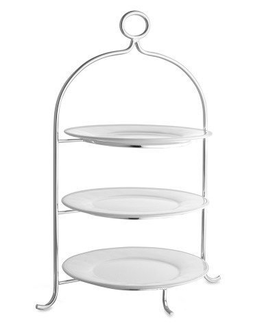 Presidio Silver Plated 3 Tiered Plate Stand Entertaining