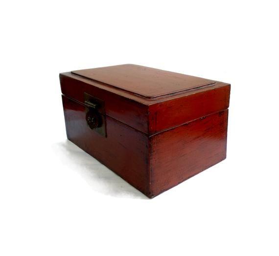 Antiques Vintage Wooden Box 1920s