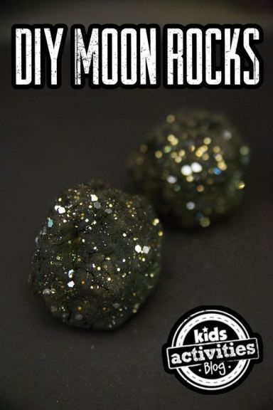 DIY Moon Rocks craft idea - A fun summer activity for kids!