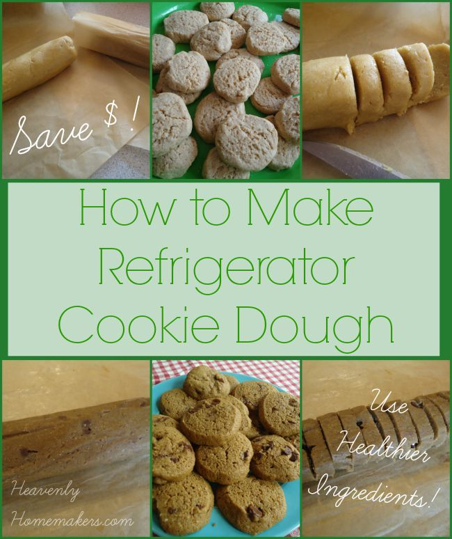 Save money and use healthier ingredients - then save time! Make this easy refrigerator cookie dough!