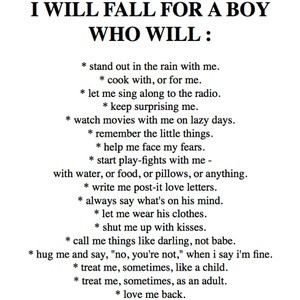 In What Do Girls A Boy Want