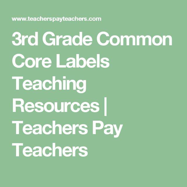 3rd Grade Common Core Labels Teaching Resources | Teachers Pay Teachers