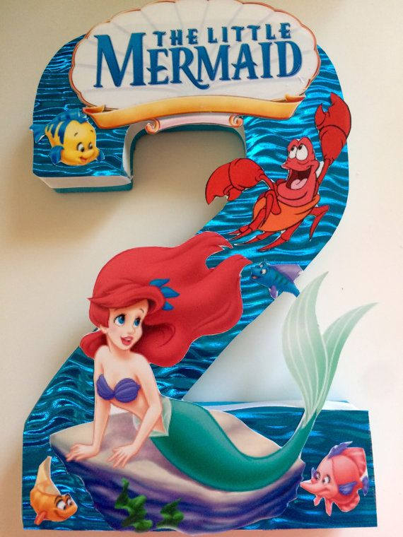 The little Mermaid Birthday number Centerpieces by angilee123
