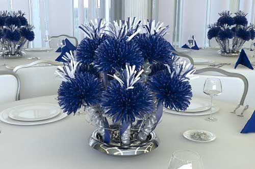Navy Blue And Silver Wedding | best wedding ideas: Lovely Navy Blue Wedding Centerpieces Theme